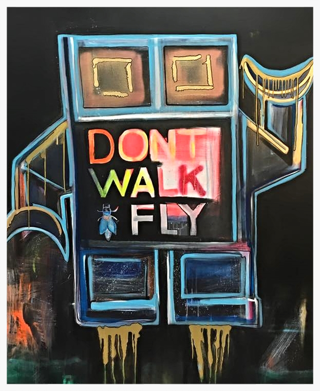 Robot series   Don't walk fly robot 120x150cm