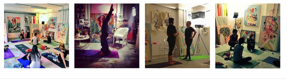 YOGA IN THE ART STUDIO -