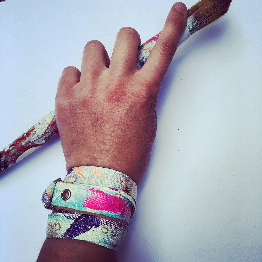 Canvas bracelets - Art accessories- wear those canvas ends
