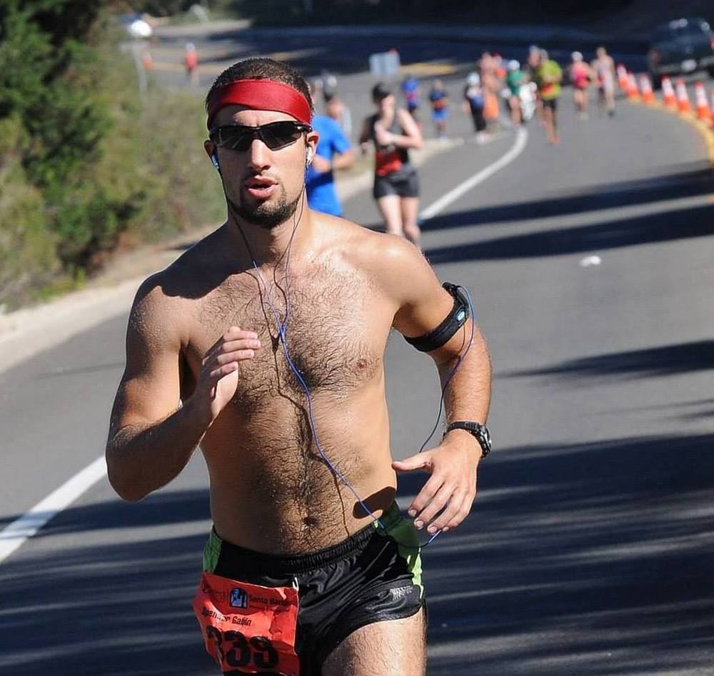 At the 2014 SB Marathon, you can totally see how macho and self-serious I am about the whole thing