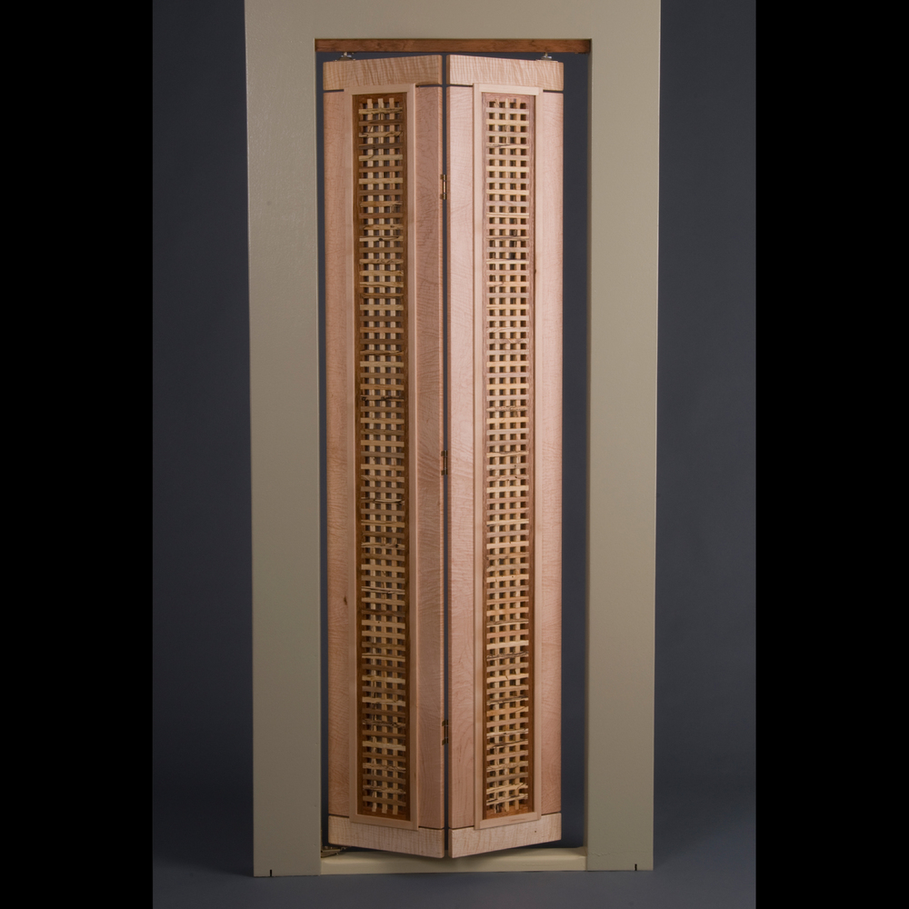 """Bifold Doors, """"Half Inch Grid"""" Design"""