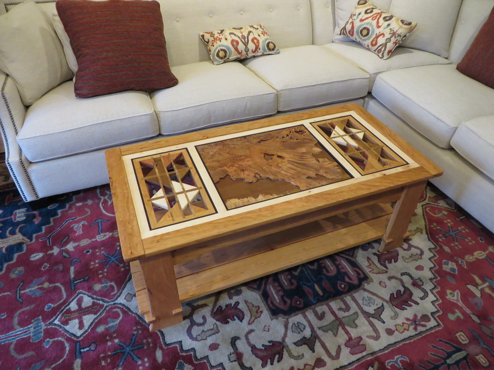 Cherry Sculptural/Burl Coffee Table