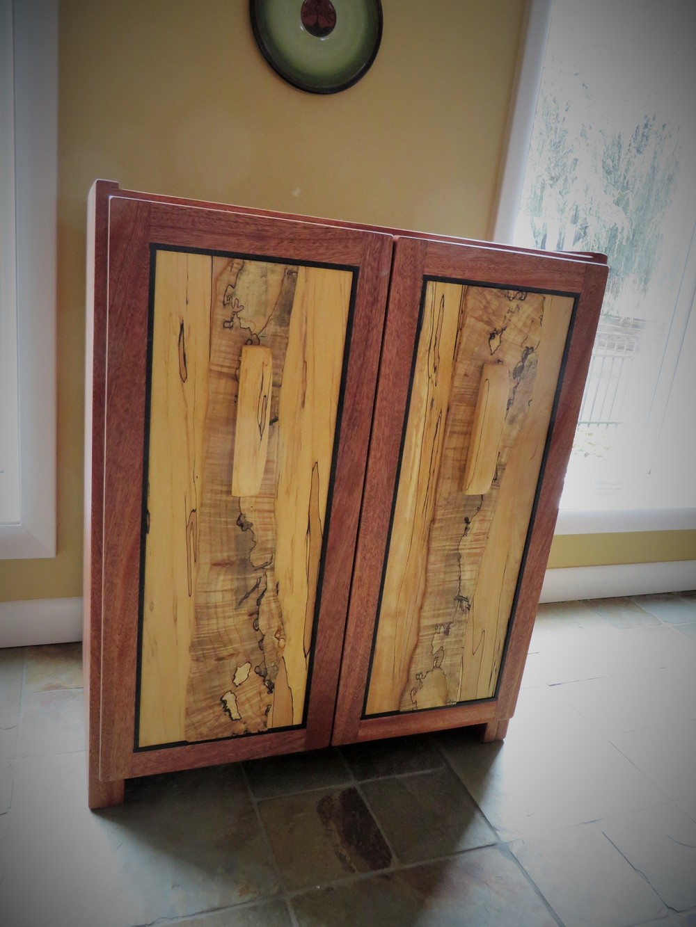 Mahogany Cabinet with Spalted Maple and Ebony