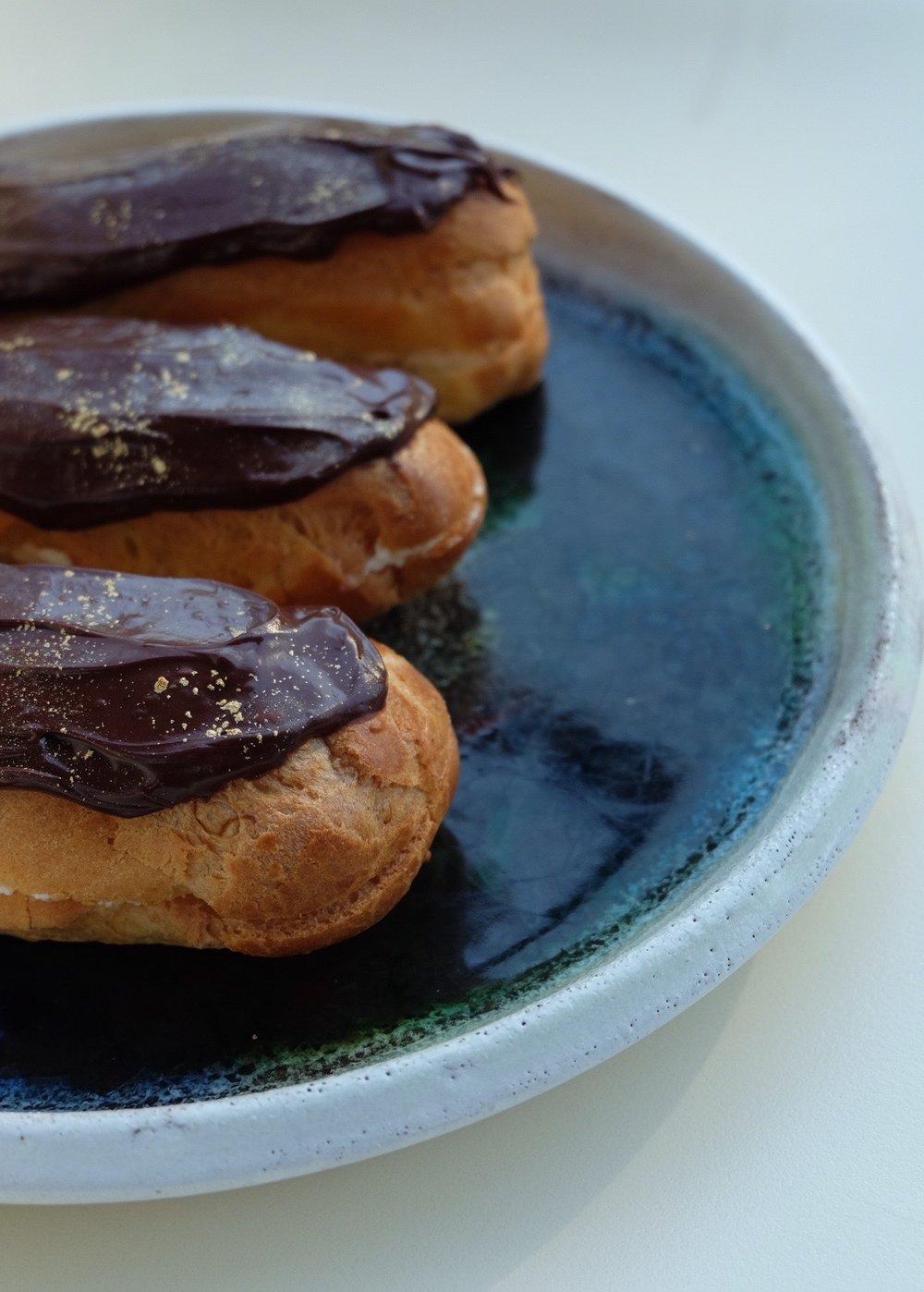 decadent chocolate éclairs