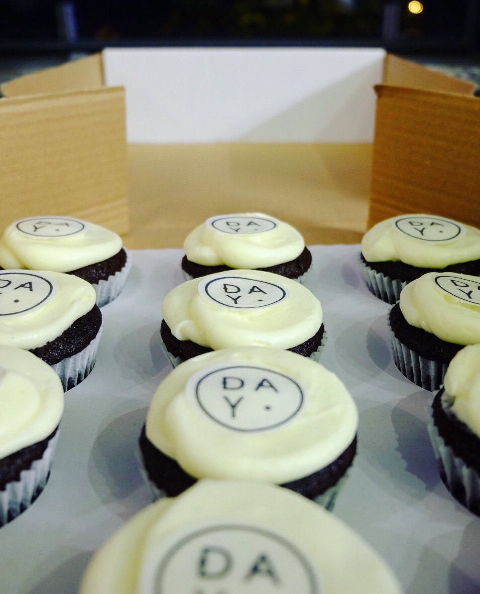 cupcakes for the launch of d.a.y boutique