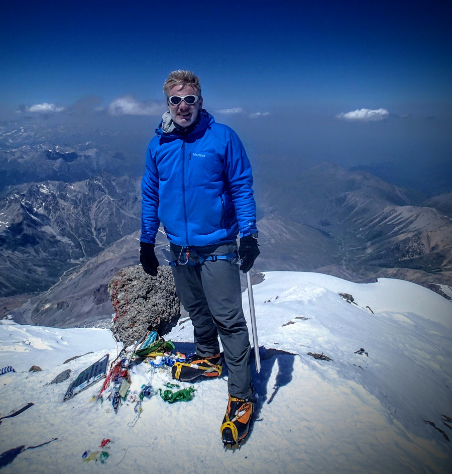 Christian on Russia's Mt. Elbrus Summit - the highest peak in Europe