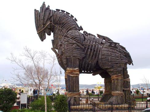 Trojan Horse. One of the oldest Social Engineering tactics.