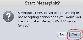 2. Start Metasploit RPC server
