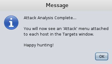 Armitage Attack Analysis Complete...