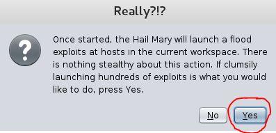 Armitage Hail Mary warning