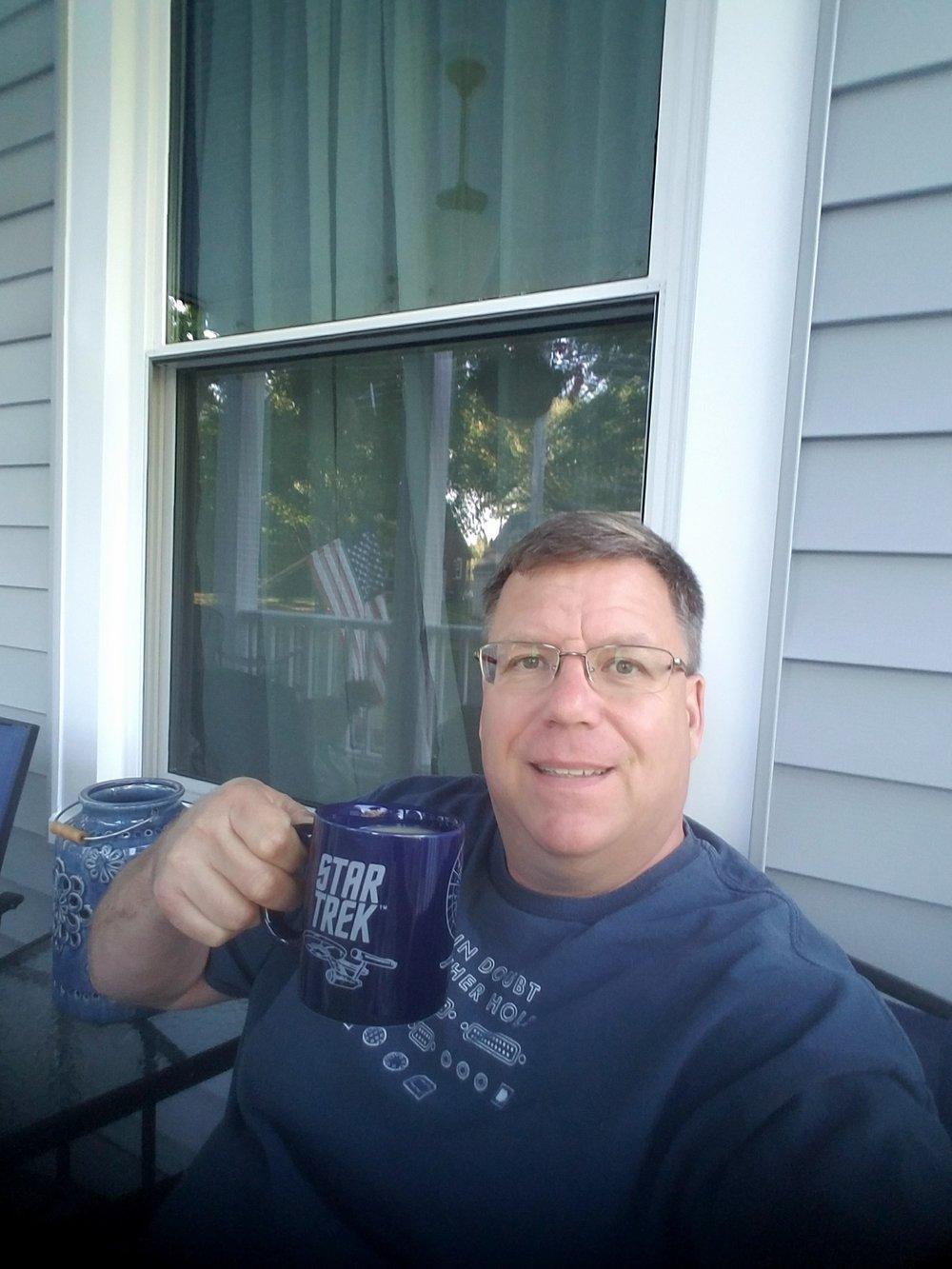 Norm, with his Star Trek mug