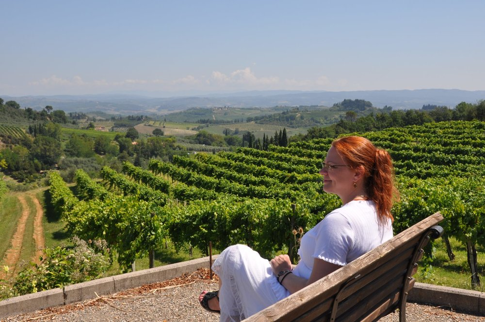 Cecilie in Tuscany, Italy