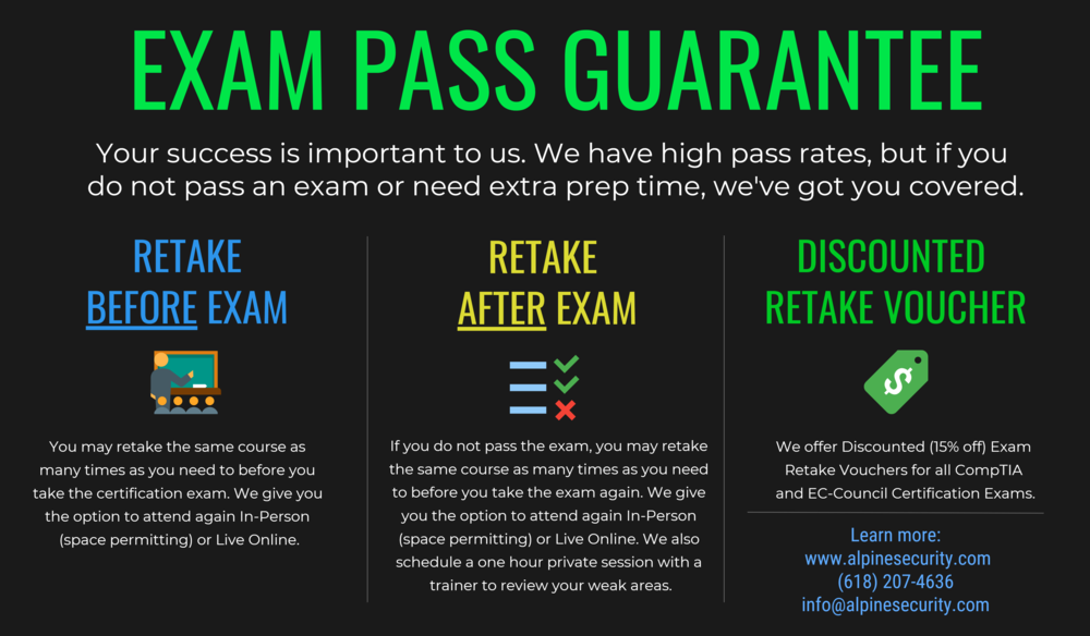 Alpine Security's Exam Pass Guarantee