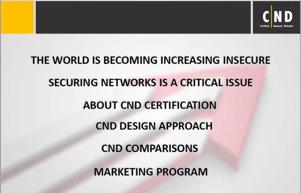 CND Presentation.  Click Image to Open Presentation.