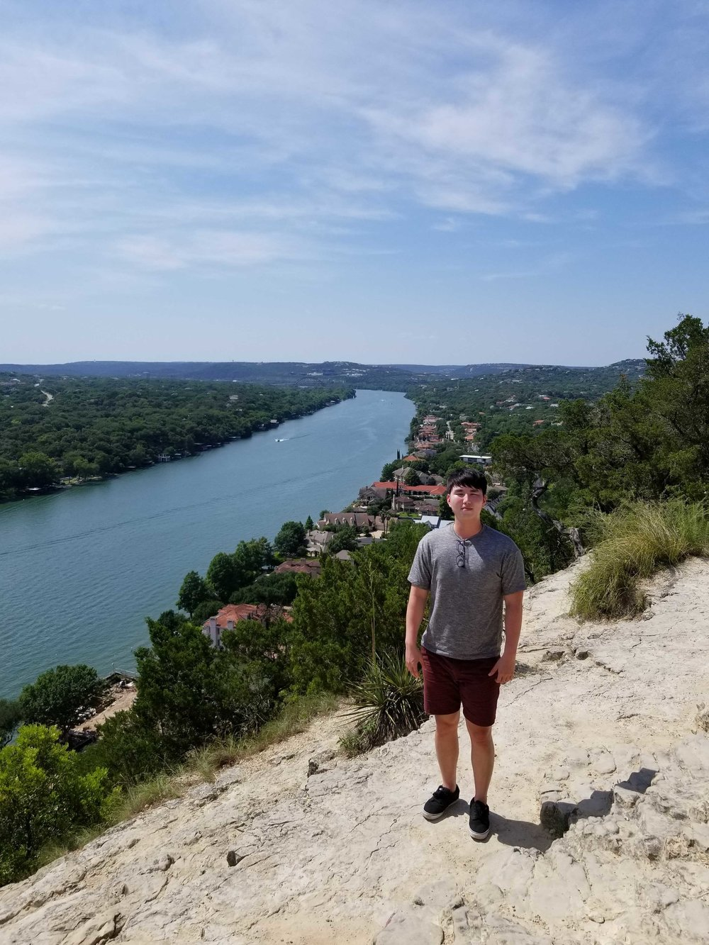 Joseph at Mt. Bonnell in Austin, TX