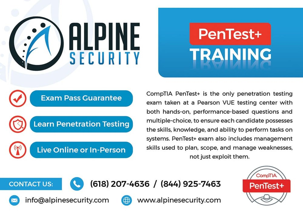 CompTIA PenTest+ Training Near Scott Air Force Base and St. Louis