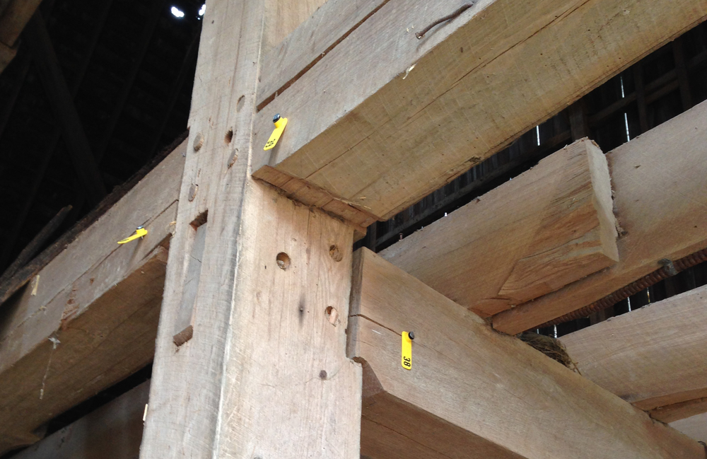 Barn Beams- many sizes, hand hewn or rough cut- sold at $4.00 bd. ft.