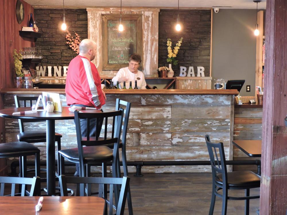 Barn siding creates a great look for a bar or a clad wall.