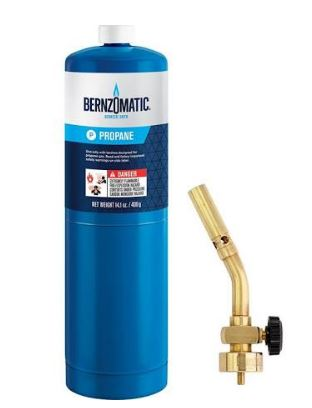 This propane kit works great and has a trigger ignite that is simple.  Amazon is the cheapest. The link gets you to it.