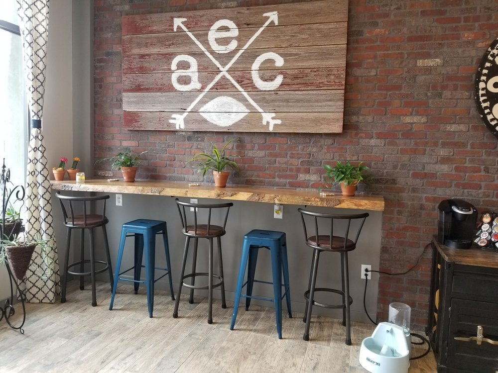 Live Edge Bar tops and Reclaimed Siding Signs for your logo!