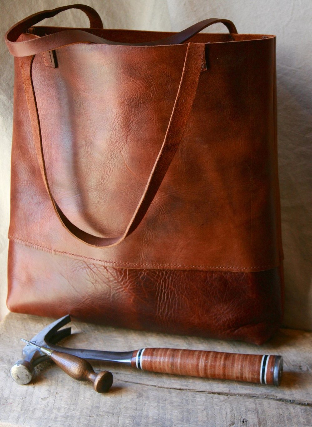 Hand -Stiched American Leather Bag