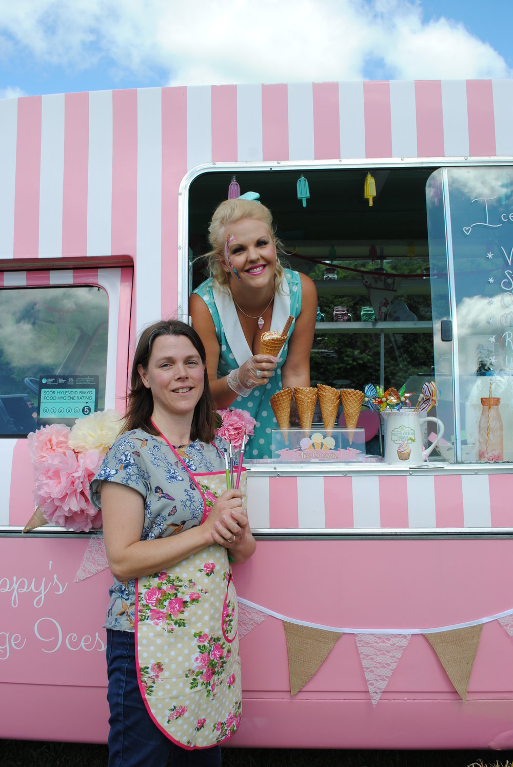 Poppy & Irene - offering Ice cream & face painting party packages