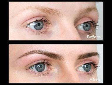 Sample of brow tinting