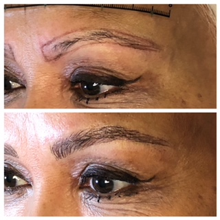sample of microblading