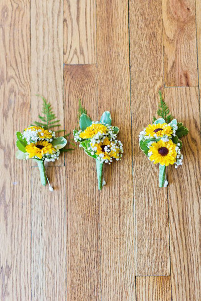 Brighten Up With These Cheery Yellow Boutineers