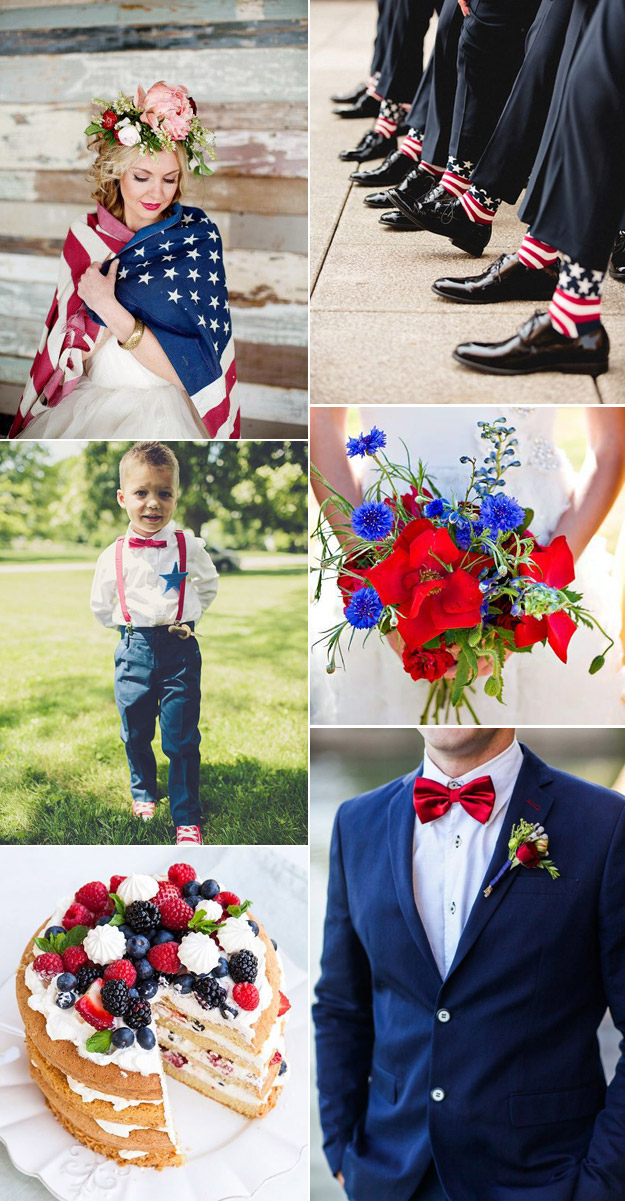 Fourth of July Inspired Wedding from B&E Lucky in Love Wedding Blog