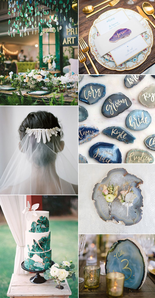 Incorporating Agates and Crystals Into Your Wedding | Lucky in Love Blog