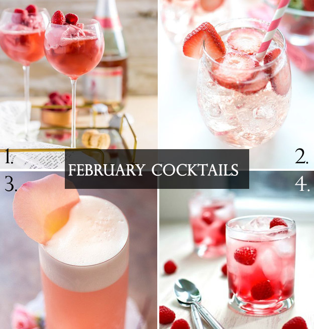 Pink and Red Valentines Day Inspired Cocktails | B&E Lucky in Love Blog