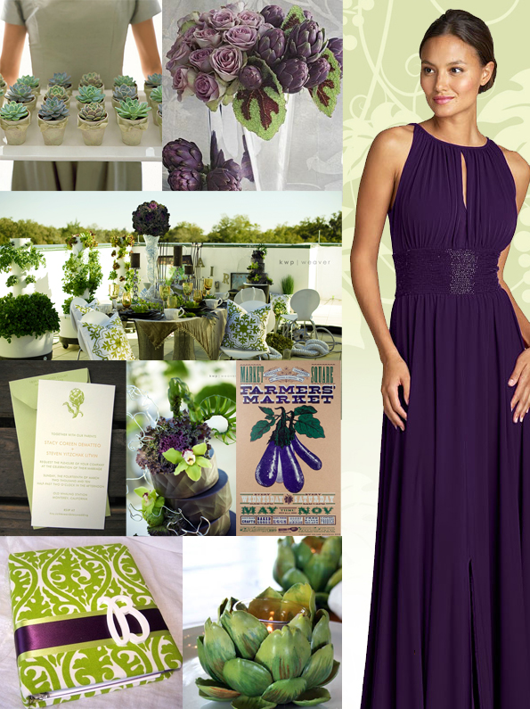 artichoke eggplant wedding