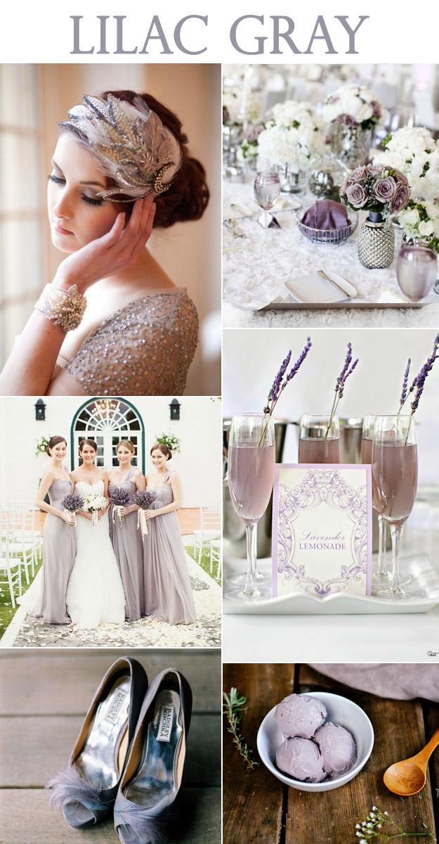 Lilac Gray Wedding