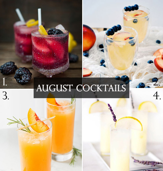 August Cocktails from B&E Lucky in Love Wedding Resource