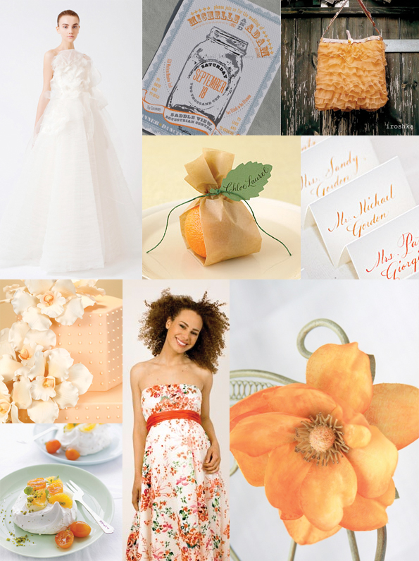 clementine and meringue wedding