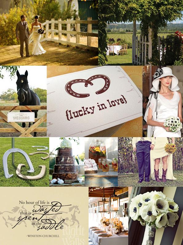 equestrian wedding theme