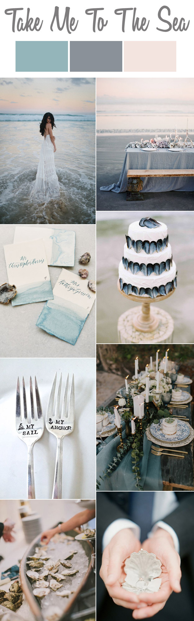 Me To The Sea: A Pastel Seaside Wedding Story |  Lucky in Love Blog