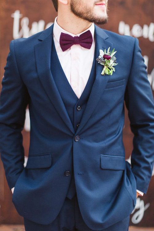 6 Navy Grooms Suits We Think You'll Love | B&E Lucky In Love Blog