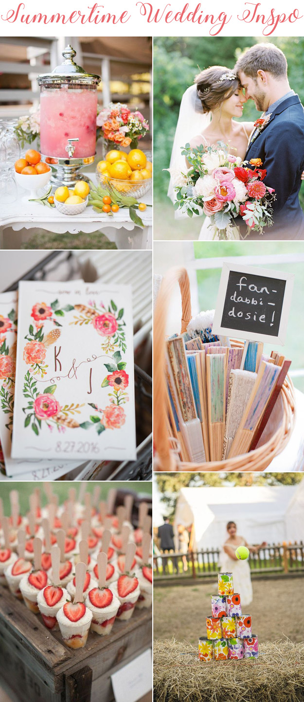 Summertime Wedding Inspo | B&E Lucky in Love Blog