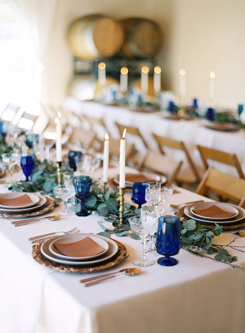 Shades of Blue Wedding Inspiration | B&E Lucky in Love Blog