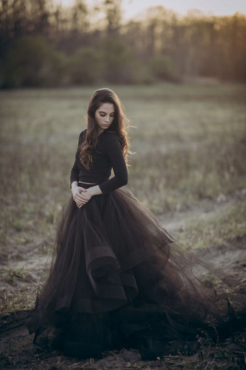 Stunning and Dramatic Black Wedding Gowns | B&E Lucky in Love Blog