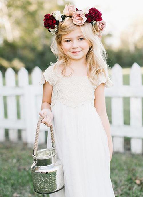 6 of The Cutest Flower Girls Dresses | B&E Lucky in Love Blog