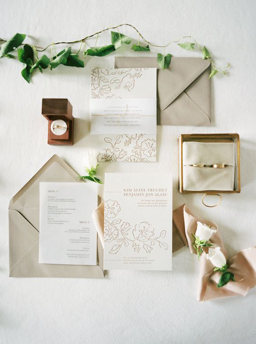 Subtle Yet Beautiful Neutral Wedding Inspiration | B&E Lucky in Love Blog