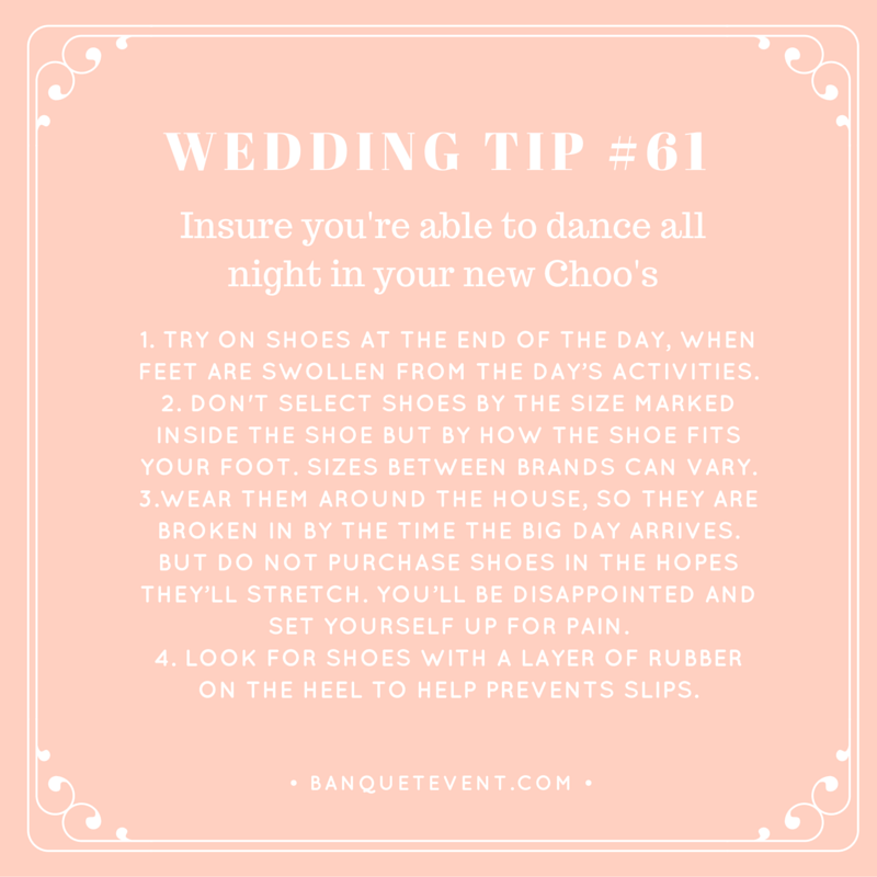 Wedding Tip #61 - Insure you're able to dance all night in your new Choo's