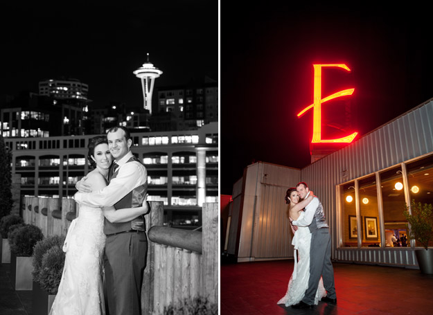 Purple Seattle Waterfront Wedding from Carol Harrold Photography