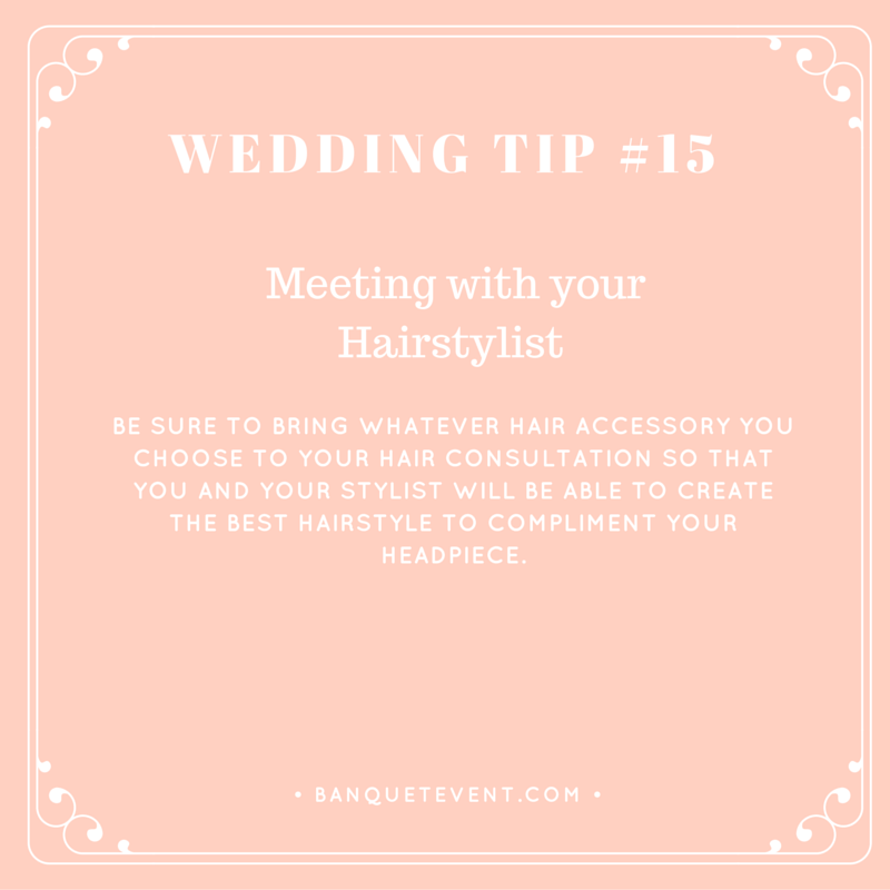 Wedding Tip #15 - Meeting with your Hairstylist | B&E Lucky in Love Blog