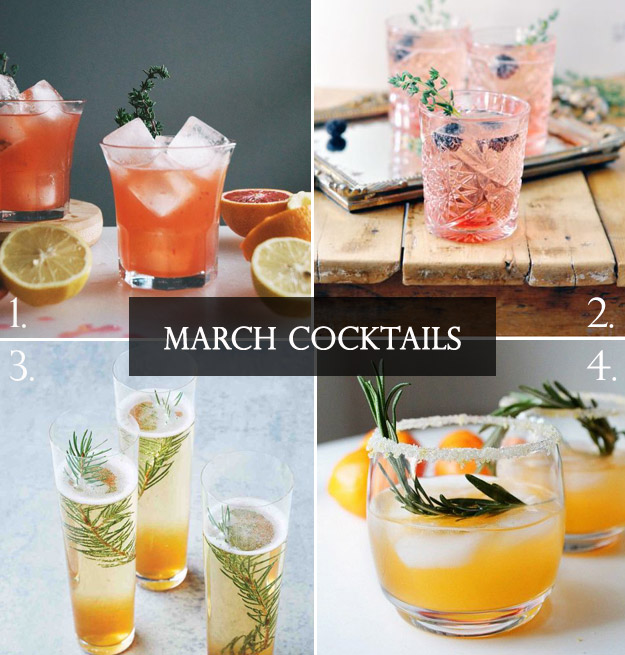 March cocktails