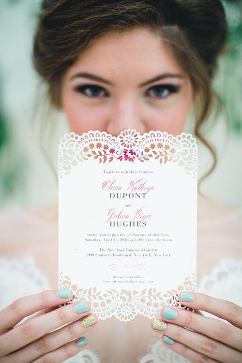 Lovely Laser Cut Wedding Invitations Inspiration | B&E Lucky in Love Blog