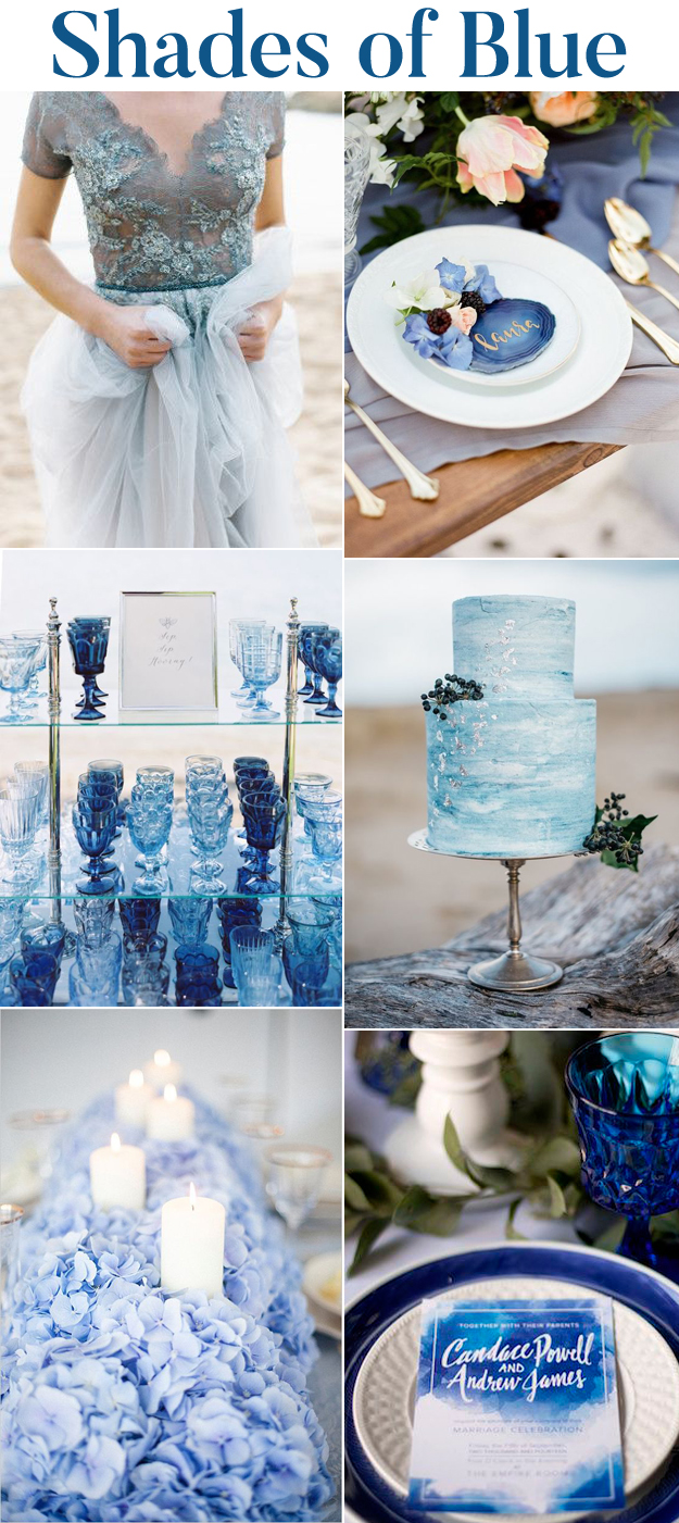 Stunning Shades Of Blue Wedding Inspiration B E Lucky In Love Blog Northwest Wedding Resource Guide